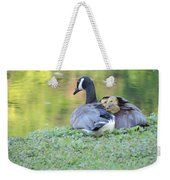 Canadian Goose Mother And Babies Weekender Tote Bag