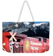 Canadian Pacific Trail Slices Through The Rockies Weekender Tote Bag