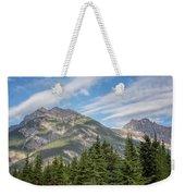Canadian Rockies Near Kicking Horse Pass Weekender Tote Bag
