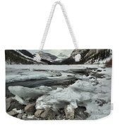 Canadian Rockies Rugged Winter Landscape Weekender Tote Bag