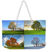 Canadian Seasons Weekender Tote Bag