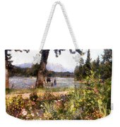 Canadian Sunday Out By The Lake Weekender Tote Bag