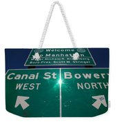 Canal And Bowery Weekender Tote Bag