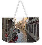 Canal And Gondola Weekender Tote Bag