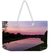 Canal At Sunset Weekender Tote Bag
