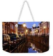 Canal Kromme Nieuwegracht In Utrecht In The Evening 15 Weekender Tote Bag