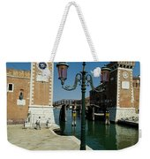 Canal Leading Into The Arsenale Weekender Tote Bag