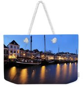 Canal Thorbeckegracht In Zwolle In The Evening Weekender Tote Bag