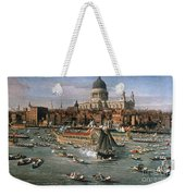 Canaletto: Thames, 18th C Weekender Tote Bag by Granger