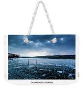 Canandaigua Lake Winter Weekender Tote Bag