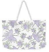 Canary Vine Leaves - Purple And Green Weekender Tote Bag