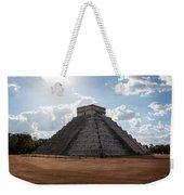 Cancun Mexico - Chichen Itza - Temple Of Kukulcan-el Castillo Pyramid 1 Weekender Tote Bag