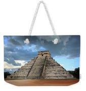 Cancun Mexico - Chichen Itza - Temple Of Kukulcan-el Castillo Pyramid 3  Weekender Tote Bag