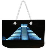 Cancun Mexico - Chichen Itza - Temple Of Kukulcan-el Castillo Pyramid Night Lights 3 Weekender Tote Bag