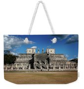 Cancun Mexico - Chichen Itza - Temple Of The Warriors Weekender Tote Bag