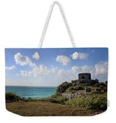 Cancun Mexico - Tulum Ruins - Temple For God Of The Wind 1 Weekender Tote Bag