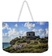 Cancun Mexico - Tulum Ruins - Temple For God Of The Wind 2 Weekender Tote Bag