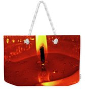 Candle Flame Weekender Tote Bag