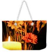 Candle Lit Weekender Tote Bag by Kristin Elmquist