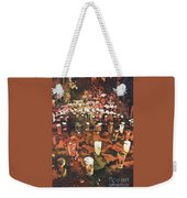 Candles In Graveyard During Day Of The Dead In Patzcuaro, Mexico Weekender Tote Bag