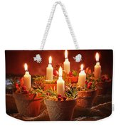 Candles In Terracotta Pots Weekender Tote Bag