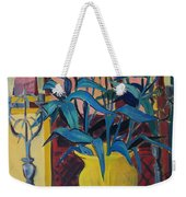 Candlesticks And Blossoms Weekender Tote Bag