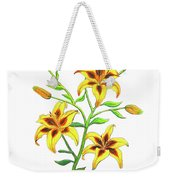 Candy Cane Lily Weekender Tote Bag
