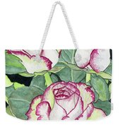 Candy Cane Roses Weekender Tote Bag