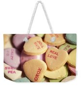 Candy Hearts Weekender Tote Bag