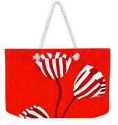 Candy Stripe Tulips Weekender Tote Bag