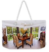 Cane Dining Setting Weekender Tote Bag