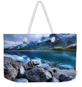 Canmore Reservoir Under A Setting Sun Weekender Tote Bag