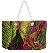 Canna Leaves 2   Weekender Tote Bag