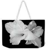 Canna Lily In Black And White Weekender Tote Bag