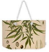 Cannabis Sativa  Weekender Tote Bag