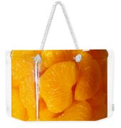 Canned Mandarin Oranges In Glass Jar Weekender Tote Bag