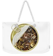 Canned Time - Parts Of Clockwork Mechanism In The Can Weekender Tote Bag by Michal Boubin