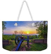 Cannon At Sunset Weekender Tote Bag