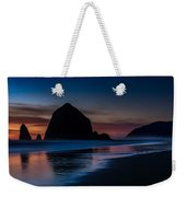 Cannon Beach Evening Beach Serenity Weekender Tote Bag
