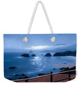 Blue Waters On Cannon Beach Weekender Tote Bag