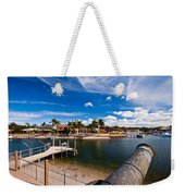 Cannon Over Water Weekender Tote Bag