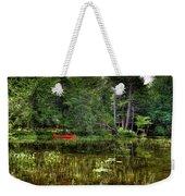 Canoe Among The Reeds Weekender Tote Bag