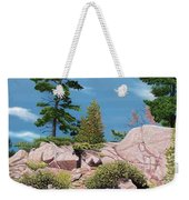 Canoe Among The Rocks Weekender Tote Bag