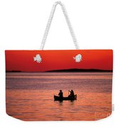 Canoe Fishing Weekender Tote Bag