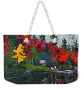 Canoe Lake Chairs Weekender Tote Bag by Phil Chadwick