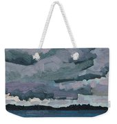 Canoe Lake Rain Clouds Weekender Tote Bag