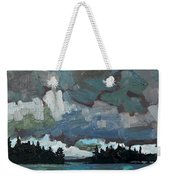 Canoe Lake Rain Weekender Tote Bag