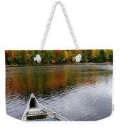 Canoe On A Lake Weekender Tote Bag