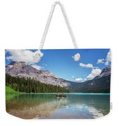 Canoe On Emerald Lake British Columbia Weekender Tote Bag