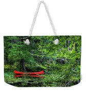 Canoe On The Shore Weekender Tote Bag